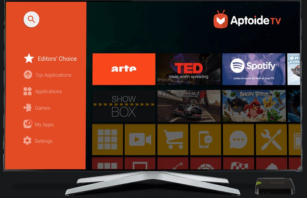 Aptoide TV - l'App Store optimisé pour votre Box et Smart TV